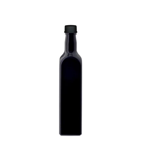 eckige flasche violettglas 500ml. Black Bedroom Furniture Sets. Home Design Ideas